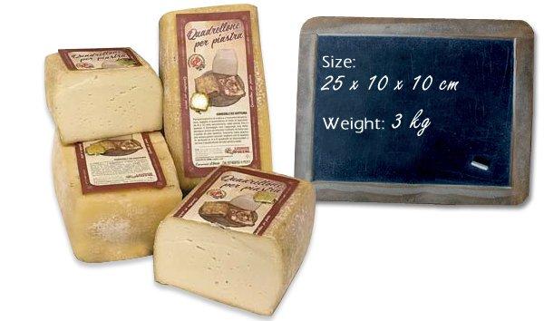 Quadrellone piastra cheese